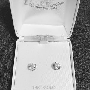 Sales 14k solid white gold earrings